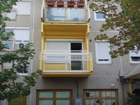 Kész erkély a 13. kerület Új Palotai úton.
